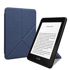 Leather Case Stands Flip Cover L03 Holder for Amazon Kindle 6 inch Blue