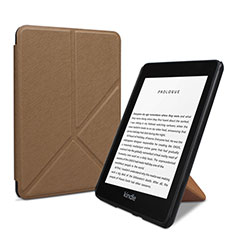 Leather Case Stands Flip Cover L03 Holder for Amazon Kindle 6 inch Brown