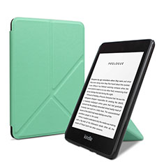 Leather Case Stands Flip Cover L03 Holder for Amazon Kindle 6 inch Green