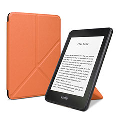 Leather Case Stands Flip Cover L03 Holder for Amazon Kindle 6 inch Orange
