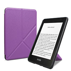 Leather Case Stands Flip Cover L03 Holder for Amazon Kindle 6 inch Purple