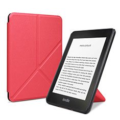Leather Case Stands Flip Cover L03 Holder for Amazon Kindle 6 inch Red