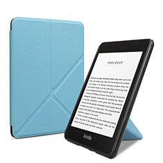Leather Case Stands Flip Cover L03 Holder for Amazon Kindle 6 inch Sky Blue