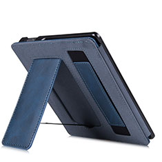 Leather Case Stands Flip Cover L03 Holder for Amazon Kindle Oasis 7 inch Blue