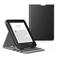 Leather Case Stands Flip Cover L03 Holder for Amazon Kindle Paperwhite 6 inch Black