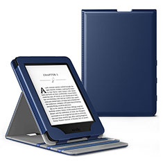 Leather Case Stands Flip Cover L03 Holder for Amazon Kindle Paperwhite 6 inch Blue