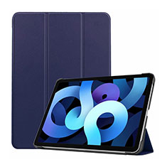 Leather Case Stands Flip Cover L03 Holder for Apple iPad Air 10.9 (2020) Navy Blue