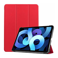 Leather Case Stands Flip Cover L03 Holder for Apple iPad Air 4 10.9 (2020) Red