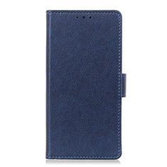 Leather Case Stands Flip Cover L03 Holder for Apple iPhone 12 Pro Max Blue