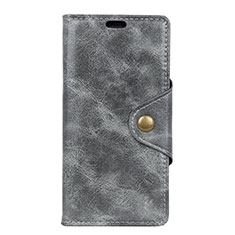 Leather Case Stands Flip Cover L03 Holder for Asus ZenFone Live L1 ZA550KL Gray