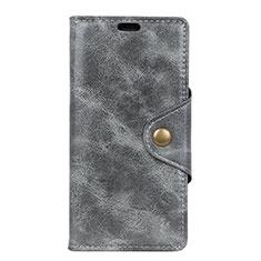 Leather Case Stands Flip Cover L03 Holder for Asus ZenFone Live L1 ZA551KL Gray