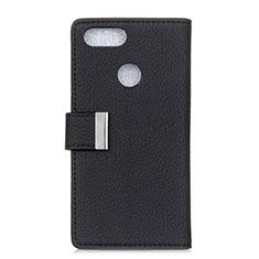 Leather Case Stands Flip Cover L03 Holder for Asus Zenfone Max Plus M1 ZB570TL Black