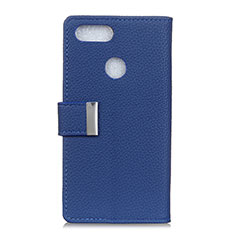 Leather Case Stands Flip Cover L03 Holder for Asus Zenfone Max Plus M1 ZB570TL Blue