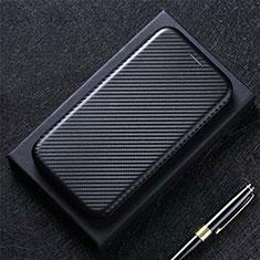 Leather Case Stands Flip Cover L03 Holder for Google Pixel 5 Black
