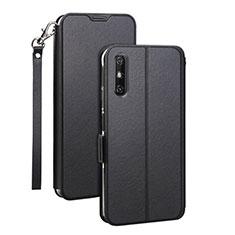 Leather Case Stands Flip Cover L03 Holder for Huawei Enjoy 10e Black