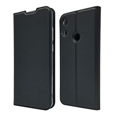 Leather Case Stands Flip Cover L03 Holder for Huawei Y6 (2019) Black