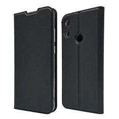Leather Case Stands Flip Cover L03 Holder for Huawei Y6 Prime (2019) Black