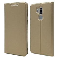 Leather Case Stands Flip Cover L03 Holder for LG G7 Gold