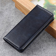Leather Case Stands Flip Cover L03 Holder for LG Q52 Navy Blue