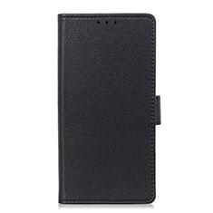 Leather Case Stands Flip Cover L03 Holder for LG Velvet 4G Black