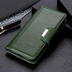 Leather Case Stands Flip Cover L03 Holder for Motorola Moto Edge Green