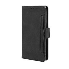 Leather Case Stands Flip Cover L03 Holder for Motorola Moto Edge Plus Black