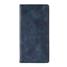 Leather Case Stands Flip Cover L03 Holder for Motorola Moto G9 Play Blue