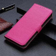 Leather Case Stands Flip Cover L03 Holder for Motorola Moto G9 Plus Hot Pink
