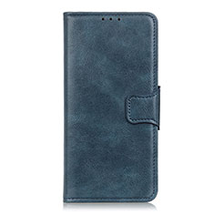 Leather Case Stands Flip Cover L03 Holder for Motorola Moto One Fusion Blue