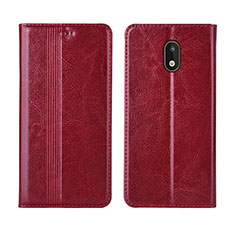 Leather Case Stands Flip Cover L03 Holder for Nokia 1.3 Red