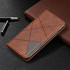 Leather Case Stands Flip Cover L03 Holder for Nokia 2.3 Brown