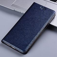 Leather Case Stands Flip Cover L03 Holder for Nokia 2.4 Blue