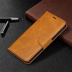 Leather Case Stands Flip Cover L03 Holder for Nokia 5.3 Orange