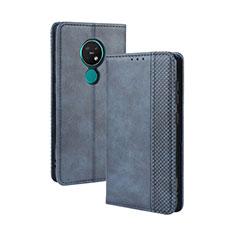 Leather Case Stands Flip Cover L03 Holder for Nokia 7.2 Blue
