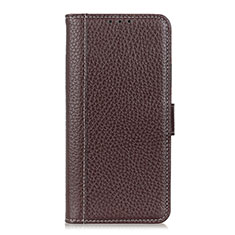 Leather Case Stands Flip Cover L03 Holder for Nokia C1 Brown