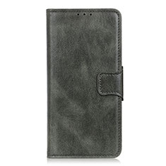 Leather Case Stands Flip Cover L03 Holder for Oppo Reno3 A Midnight Green