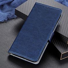 Leather Case Stands Flip Cover L03 Holder for Realme 5 Pro Blue