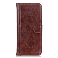 Leather Case Stands Flip Cover L03 Holder for Realme Narzo 20 Pro Brown