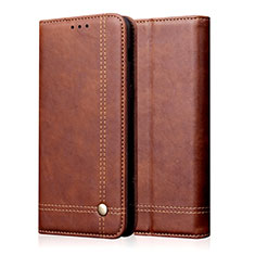 Leather Case Stands Flip Cover L03 Holder for Realme X50 5G Brown