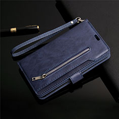 Leather Case Stands Flip Cover L03 Holder for Samsung Galaxy S20 5G Blue