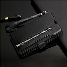Leather Case Stands Flip Cover L03 Holder for Samsung Galaxy S20 Ultra 5G Black