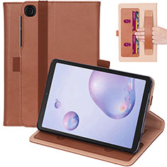 Leather Case Stands Flip Cover L03 Holder for Samsung Galaxy Tab A7 4G 10.4 SM-T505 Brown