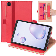Leather Case Stands Flip Cover L03 Holder for Samsung Galaxy Tab A7 Wi-Fi 10.4 SM-T500 Red