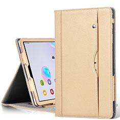 Leather Case Stands Flip Cover L03 Holder for Samsung Galaxy Tab S6 10.5 SM-T860 Gold
