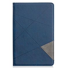 Leather Case Stands Flip Cover L03 Holder for Samsung Galaxy Tab S6 Lite 4G 10.4 SM-P615 Blue