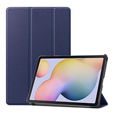 Leather Case Stands Flip Cover L03 Holder for Samsung Galaxy Tab S7 11 Wi-Fi SM-T870 Blue