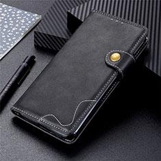 Leather Case Stands Flip Cover L03 Holder for Sharp AQUOS Sense4 Plus Black