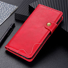 Leather Case Stands Flip Cover L03 Holder for Sharp AQUOS Sense4 Plus Red