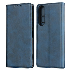 Leather Case Stands Flip Cover L03 Holder for Sony Xperia 1 II Blue