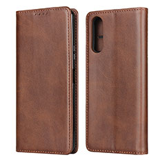 Leather Case Stands Flip Cover L03 Holder for Sony Xperia 10 II Brown